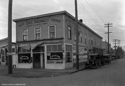 Photo of Lents Pharmacy at SE Foster and 92nd from 1932