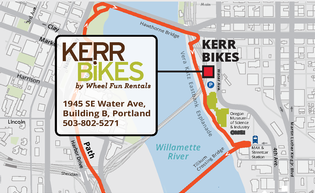 Map of Kerr Bikes, near OMSI