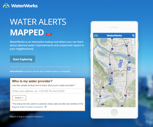 WaterWorks - Find Water Bureau project information