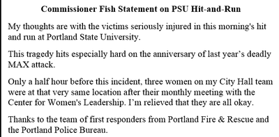 Commissioner Fish Statement