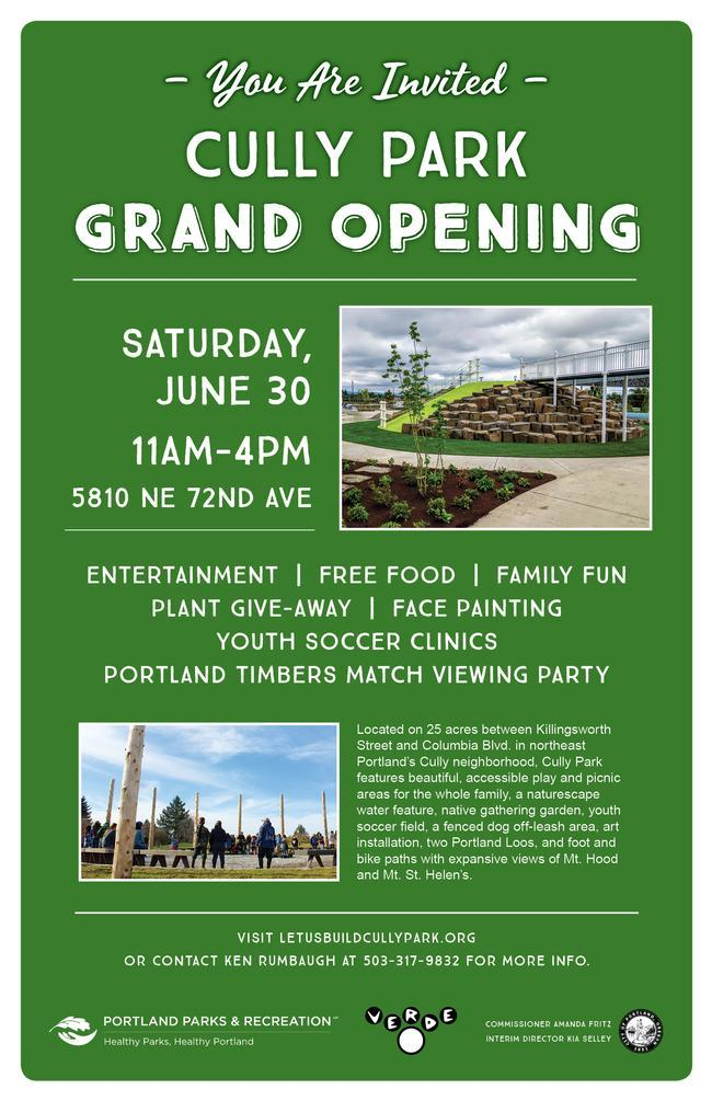 Grand opening flyer information