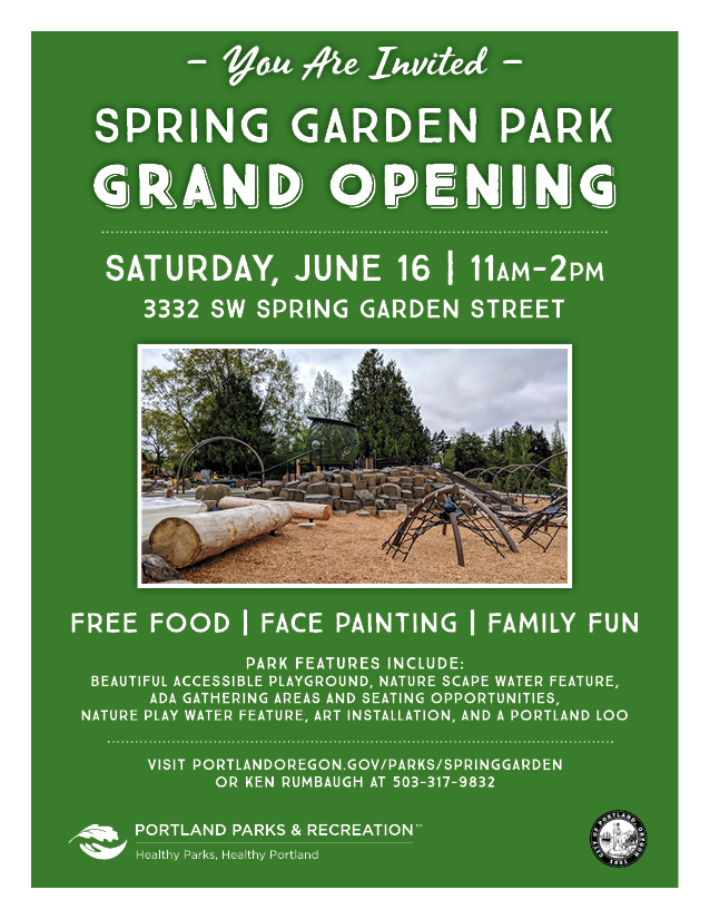 Spring Garden art invitation