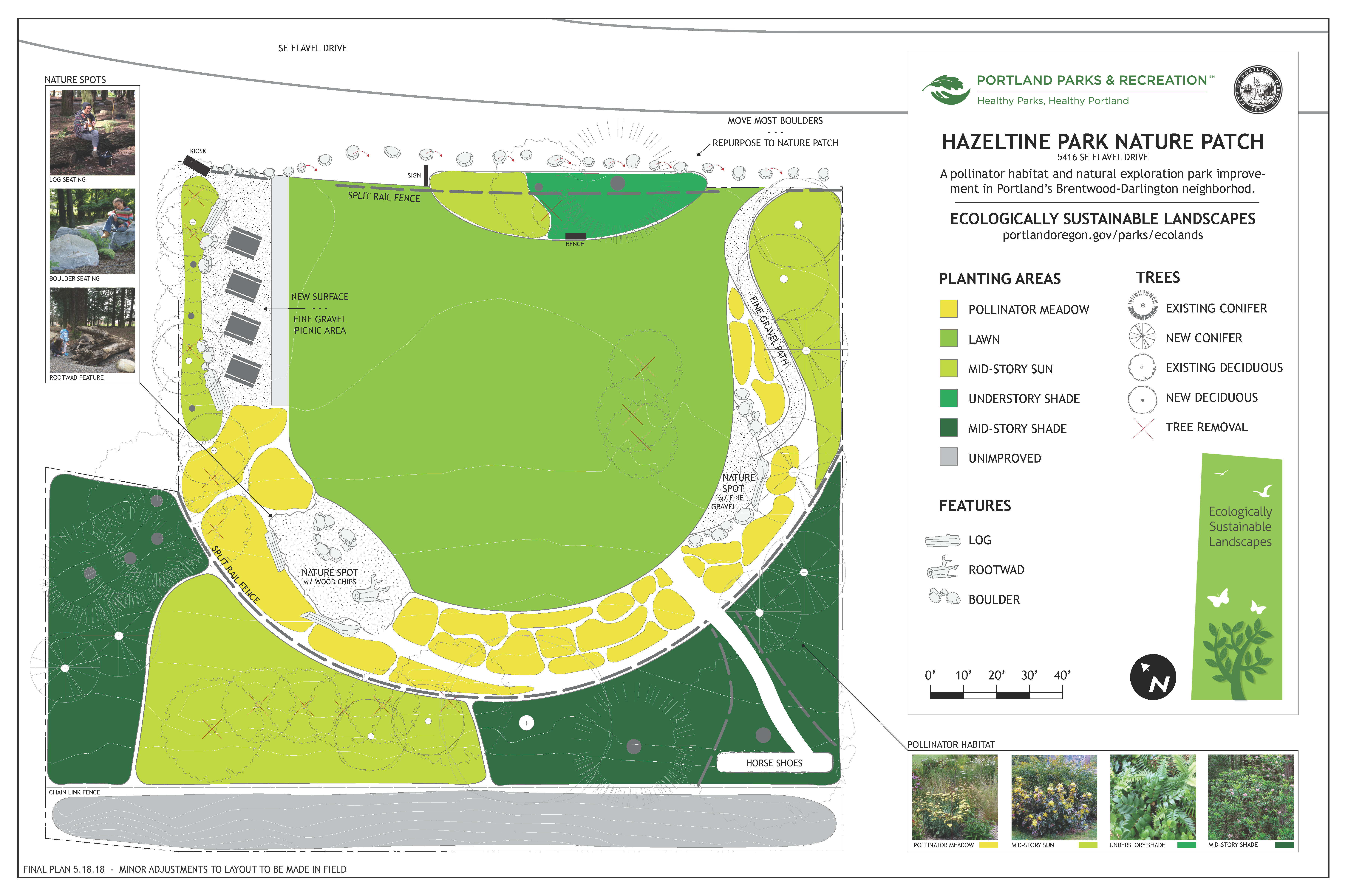 Hazeltine Nature Patch Site Plan