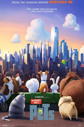 Movie poster for the film The Secret Life of Pets