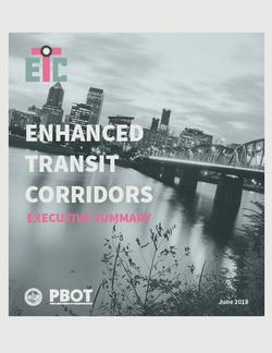 Cover page of the Executive Summary - picture of Portland looking at the Hawthorne Bridge and downtown.
