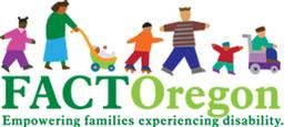 FACT Oregon logo with figures of parents, children