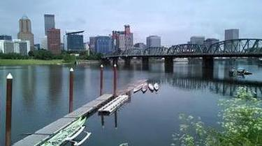 Willamette River with Downtown in the background