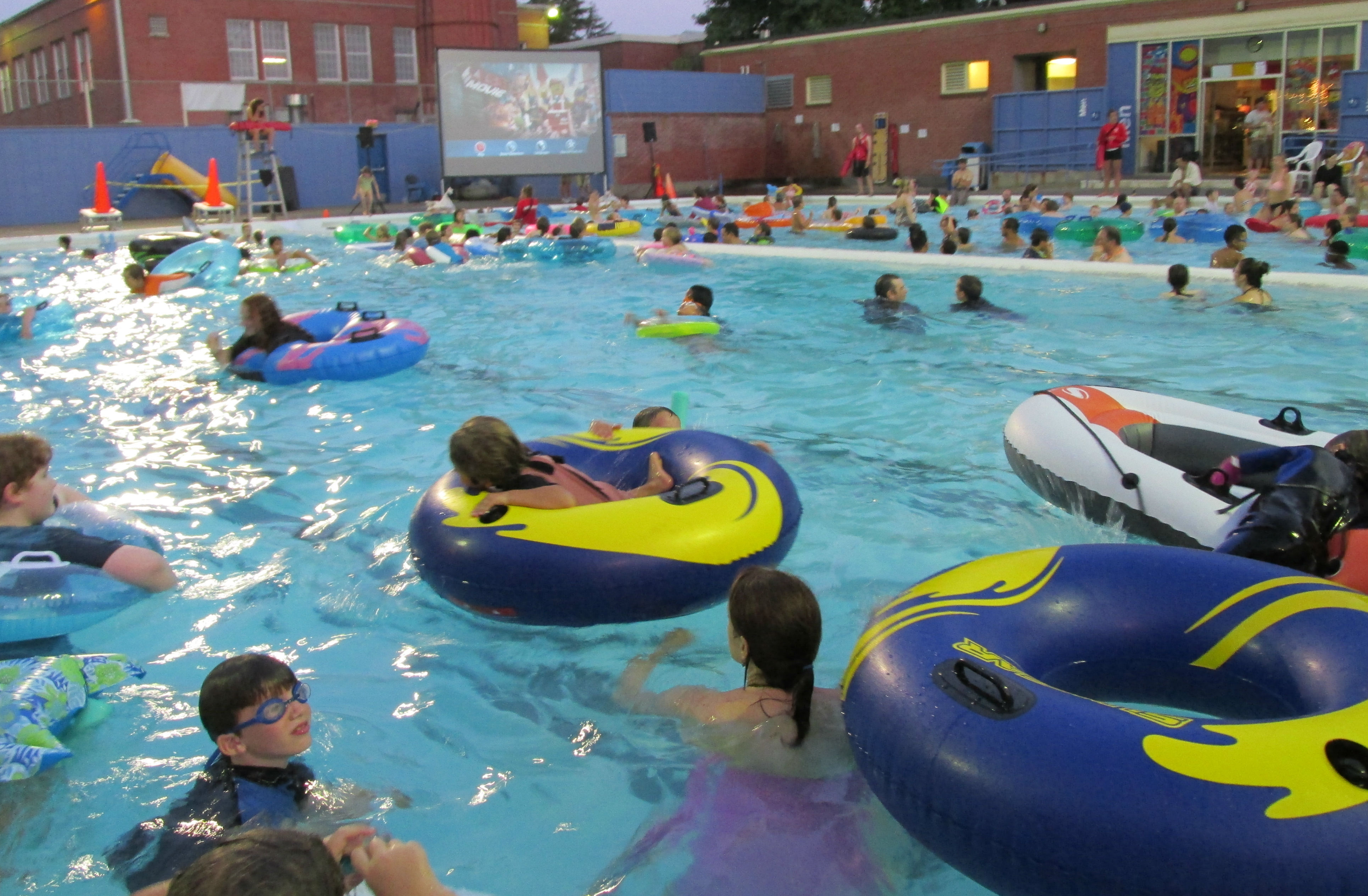 Pools Are Heated To Warmer Than Normal For The Evening Viewing Maintain A Comfort Level People In Water