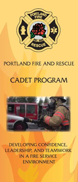 PF&R Cadet Program