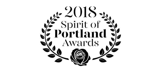Graphic of the 2018 Spirit of Portland Awards logo