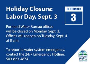 Holiday Closure Labor Day Monday Sept 4 Water Blog The City