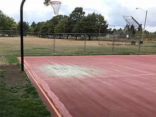 Parklane Park Basketball Court - Before