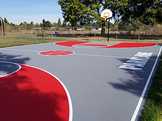 Parklane Park Basketball Court - After