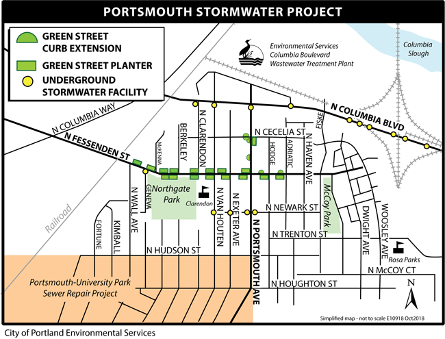 Portsmouth Stormwater Porject map