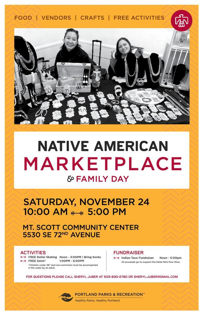 Native American marketplace event information