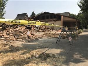 Portsmouth Union church demolished a portion of their building and bell tower to create 10,000 square feet of land for future affordable housing