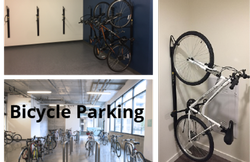 examples of various styles of bike parking