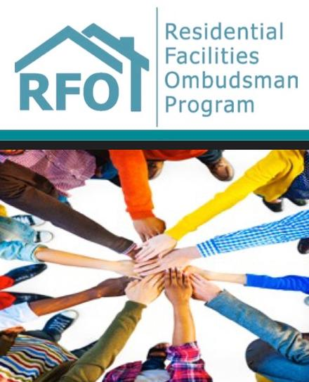 Logo of the RFO and graphic of hands joined together