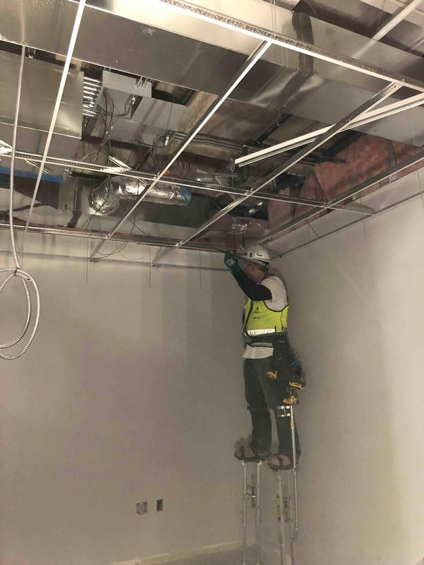 ceiling tile grid installation