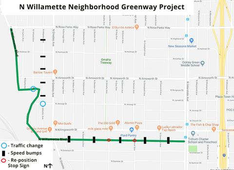 Willamette Greenway map