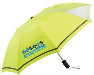 High-vis Safe Routes umbrella