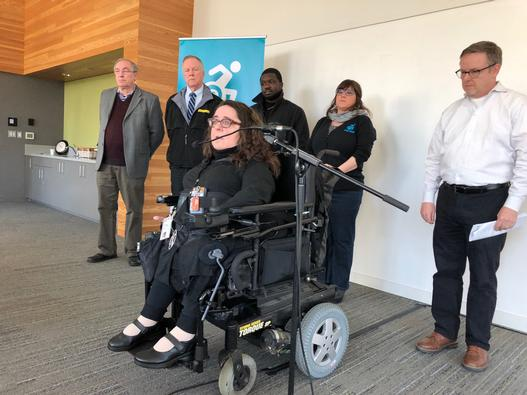 Nickole Cheron speaks about how advocates pushed for wheelchair accessible taxi and Uber rides