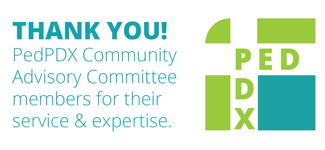 Thank you! PedPDX Community Advisory Committee Members for their service and expertise