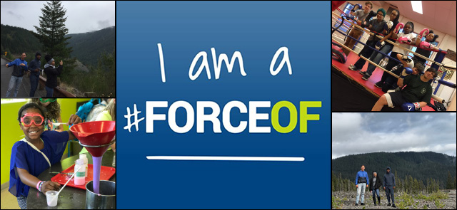 ForceOf logo with photos of youth