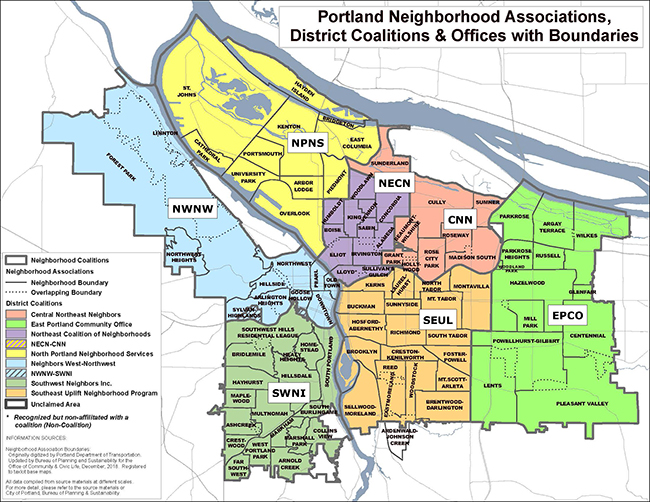 portland oregon city map Neighborhood Association Pages The City Of Portland Oregon portland oregon city map