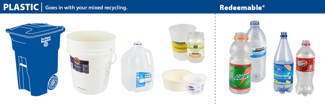 plastic items that can be recycled in Portland
