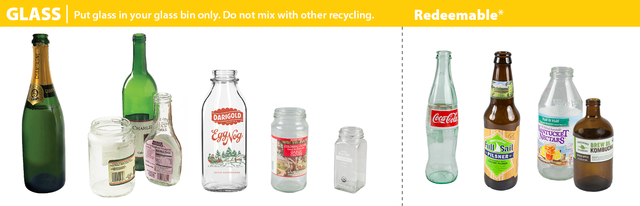 glass items that can be recycled in Portland