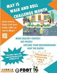 Walk and Roll Challenge Month poster