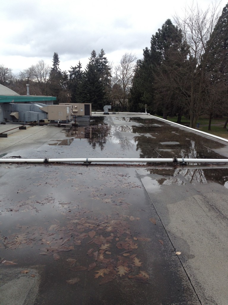 Photo of roof ponding