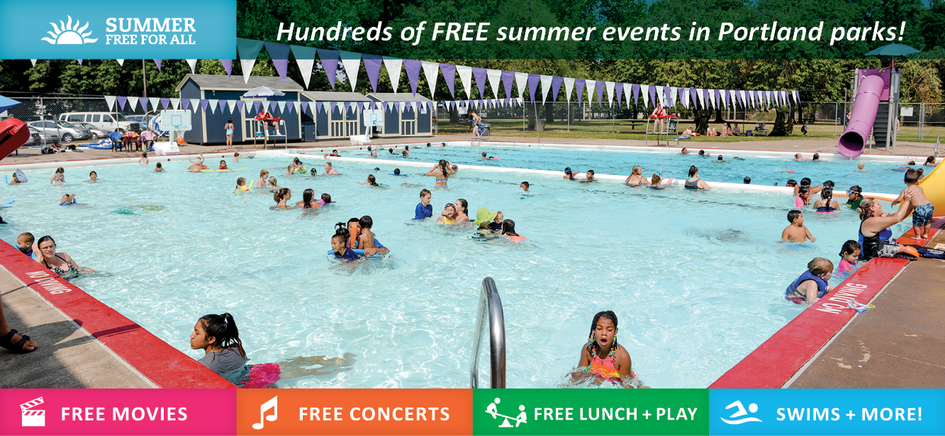Free Open Play Swimming Summer Free For All The City Of Portland Oregon