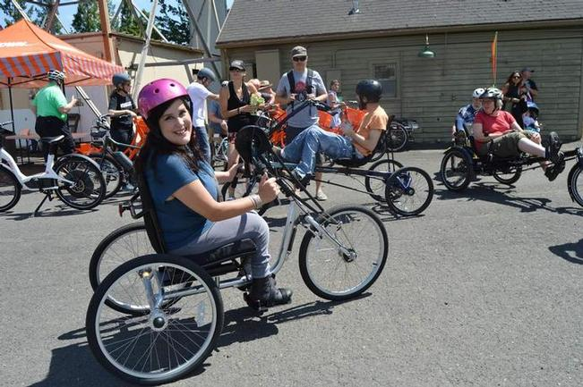 Photo of Adaptive Biketown rider Deider Hall