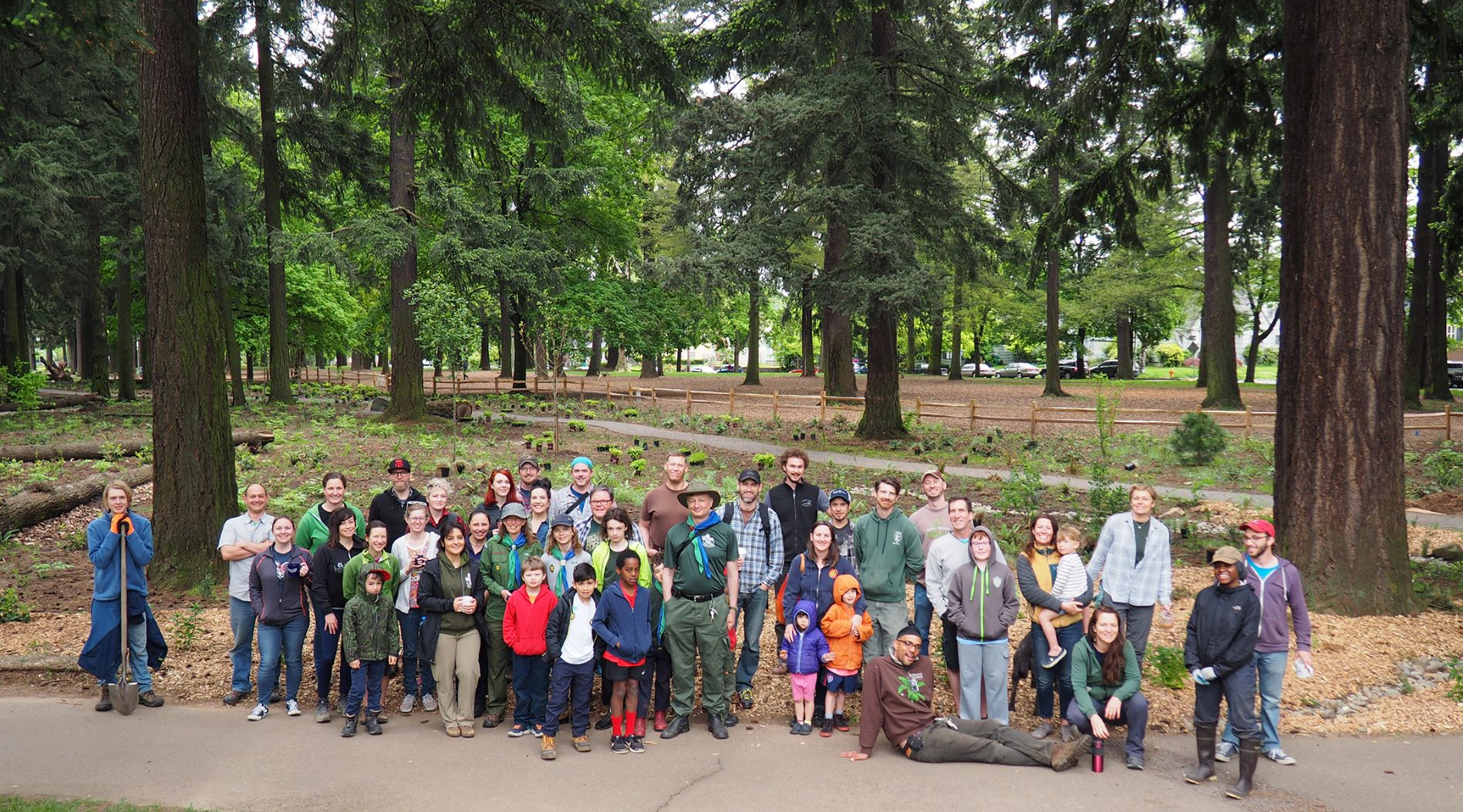 The Alberta Park Nature Patch Planting Crew