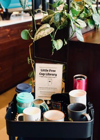 Reusable cup lending library
