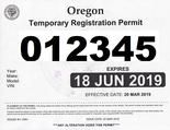 Oregon Temporary Permit