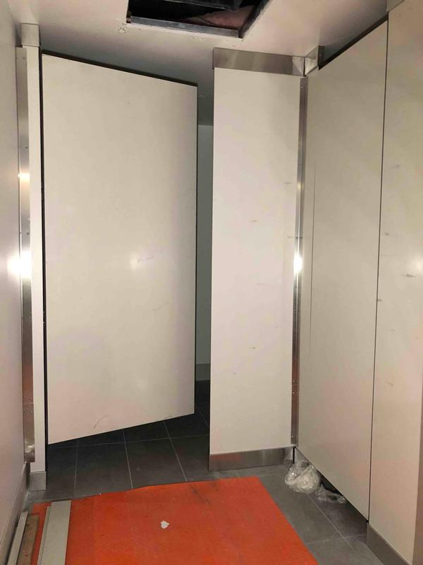 4th floor restroom partitions