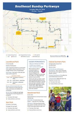 A picture of the Sunday Parkways Southeast Brochure