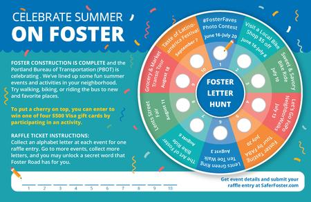 Foster Letter Hunt overview and tracking card