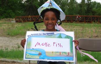 Photo: girl with fish hat