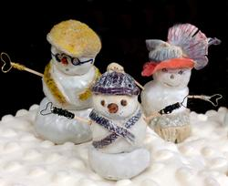 ceramics snow sculptures