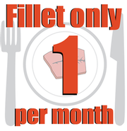 Graphic says Eat only 2 fillets per month