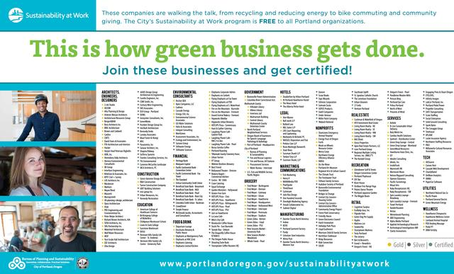 Willamette Week 2-page ad listing all certified businesses