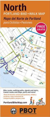 image of cover of North Portland BikeWalk Map