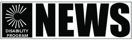 "Black and white Civic Life Disability Program logo with ""NEWS"" in large block letters on the right."