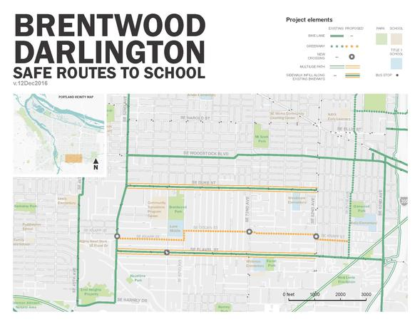 Brentwood Darlington Map