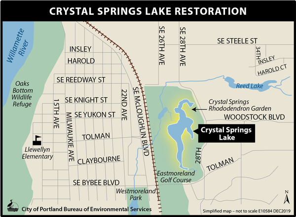 Crystal Springs Lake Location Map
