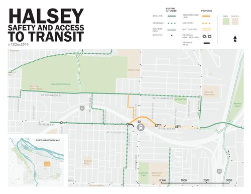 Halsey Street Safety and Access to Transit Map